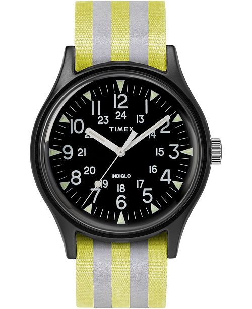 Timex Boutique Timex Mk1 Aluminum 40mm Reflective Fabric Case Watch