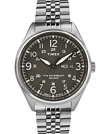 Timex Waterbury Traditional Day Date 42mm Stainless Steel Bracelet Watch