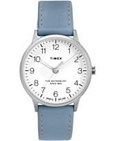 7a8f3bf9c4be Timex Waterbury Classic 36mm Leather Strap Watch