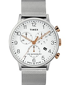 Timex Waterbury Classic Chronograph 40mm Stainless Steel Silver Mesh Band Watch