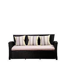 3 -Seater Patio Sofa with Cushion