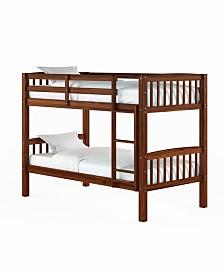CorLiving Dakota Walnut Brown Twin/Single Bunk Bed