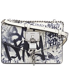 6b373156ba DKNY Elissa Graffiti Logo Leather Shoulder Bag, Created for Macy's