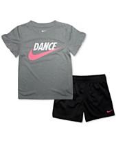 34e7daabe93 Nike Toddler Girls 2-Pc. Dance Futura Logo T-Shirt   Mesh Shorts