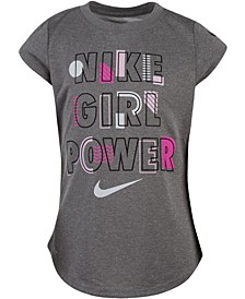 Little Girls Girl Power Dri-FIT Logo T-Shirt