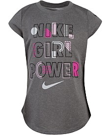 Nike Little Girls Girl Power Dri-FIT Logo T-Shirt