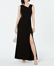 Asymmetrical Embellished Gown