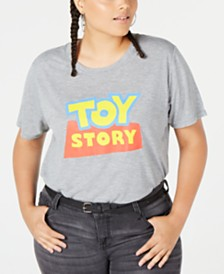 Disney Trendy Plus Size Cotton Toy Story Graphic-Print T-Shirt