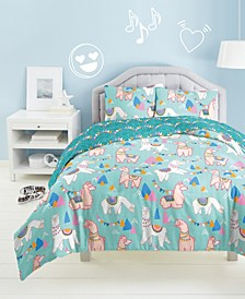 Llama Rama 2-Pc. Twin Comforter Set
