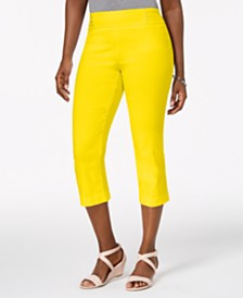 JM Collection Embellished Pull-On Capri Pants, Created for Macy's