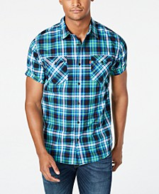 Men's Dual Pocket Plaid Shirt