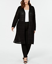 6f994825c63 JM Collection Plus Size Crochet Duster Cardigan