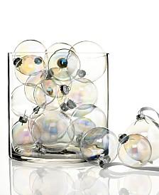 Kurt Adler Set of 20 Iridescent Glass Ball Ornaments