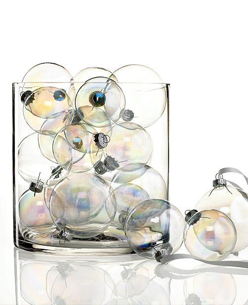 Kurt Adler Iridescent Glass Ball 20 Piece Ornament Set