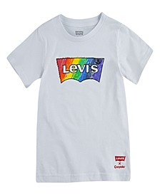 x Crayola Colorful Crayon Batwing Logo Graphic Short Sleeve T-Shirt