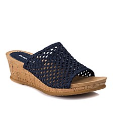 Flossey Slip-On Wedge Sandals