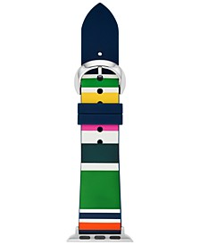 Women's Multicolor Striped Silicone Apple Watch Strap 38mm/40mm