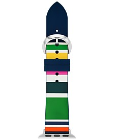 kate spade new york Women's Multicolor Striped Silicone Apple Watch Strap 38mm/40mm