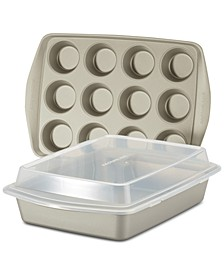 Nonstick 3-Pc. Bakeware Set, Silver