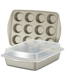 Rachael Ray Nonstick 3-Pc. Bakeware Set, Silver