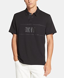 DKNY Men's Tonal Logo-Print Supima Cotton Polo