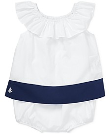 Baby Girls Colorblocked Ruffled Top & Shorts Set