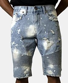 Men's Ripped Denim Shorts