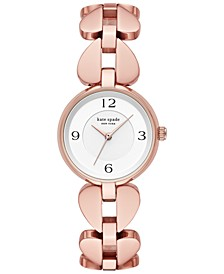 Women's Annadale Rose Gold-Tone Stainless Steel Bracelet Watch 30mm