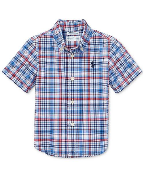 Polo Ralph Lauren Baby Boys Plaid Cotton Poplin Shirt