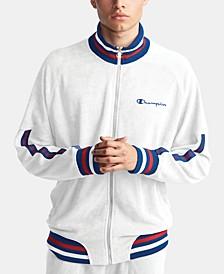 Men's C-Life Terry Varsity-Stripe Warm-Up Jacket