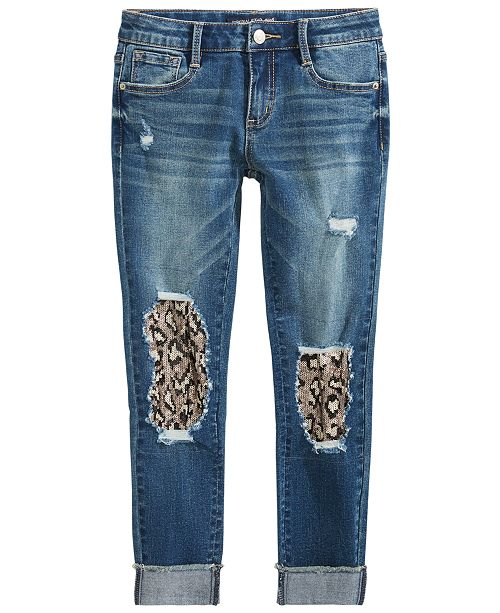 Imperial Star Big Girls Distressed Denim Jeans