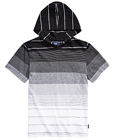 Univibe Big Boys Elijah Colorblocked Stripe Hooded T-Shirt