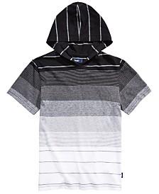 Univibe Big Boys Elijah Colorblocked Stripe Hooded T-Shirt
