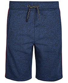 Big Boys Vulcan Regular-Fit Stretch Side-Stripe Knit Shorts