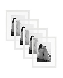 DesignOvation Gallery Float Glass Picture Frame, Set of 4