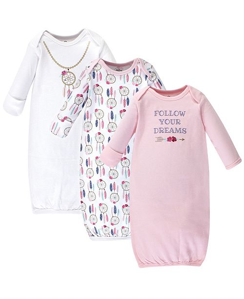 Little Treasure Cotton Gowns, 3 Pack, 0-6 Months