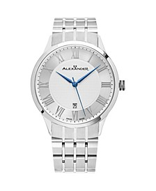 Alexander Watch A103B-01, Stainless Steel Case on Stainless Steel Bracelet