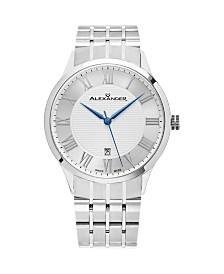 Alexander Watch A103B-01, Stainless Steel Case on Stainless Steel Bracelet