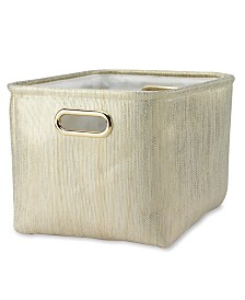 Lambs & Ivy Metallic Storage Bin/Basket