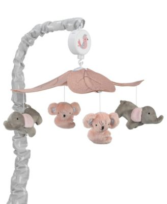Stay Wild Fox and Owl Musical Baby Crib Mobile