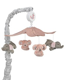 Lambs & Ivy Calypso Koala and Elephant Musical Baby Crib Mobile