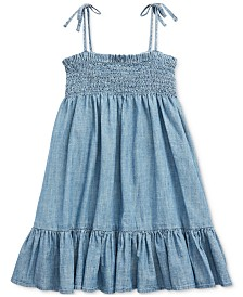 Polo Ralph Lauren Little Girls Chambray Cotton Dress