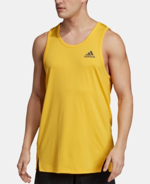 Adidas Men's Climalite Tank Top In Bold Gold