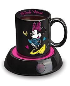 Minnie Mouse Mug Warmer with 10 Ounce Mug