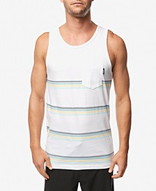 Men's Slim-Fit Striped Pocket Tank