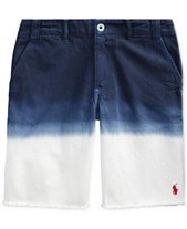 c74bb8add Polo Ralph Lauren Big Boys Straight Fit Dip Dyed Shorts