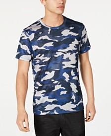 GUESS Men's Textured Camo T-Shirt
