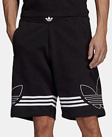 adidas Originals Men's Outline-Logo Shorts