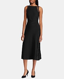 American Living Lace-Trim Jersey Dress