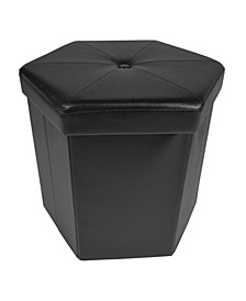Collapsible Hexagon Storage Ottoman